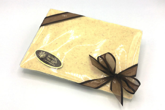 plaque chocolat blanc noix coco Manon