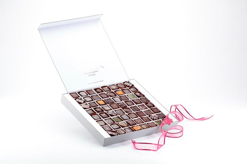 Coffret 64 chocolats noirs Manon