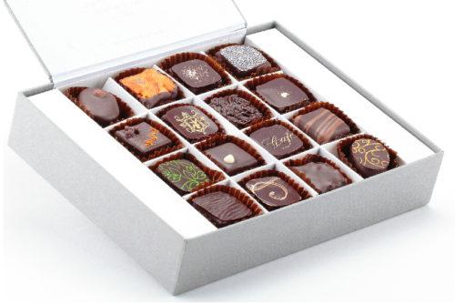 coffret 16 chocolats noirs Manon