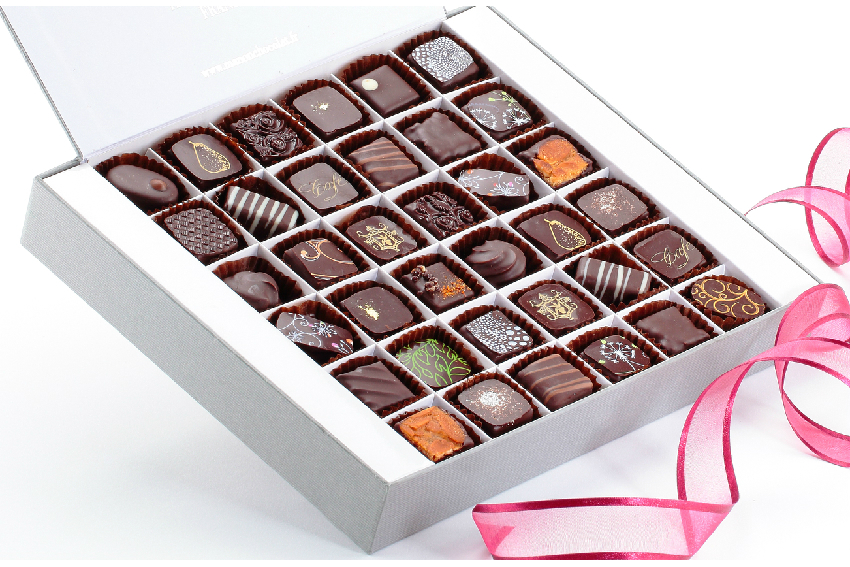 Boite 36 chocolats noirs Manon