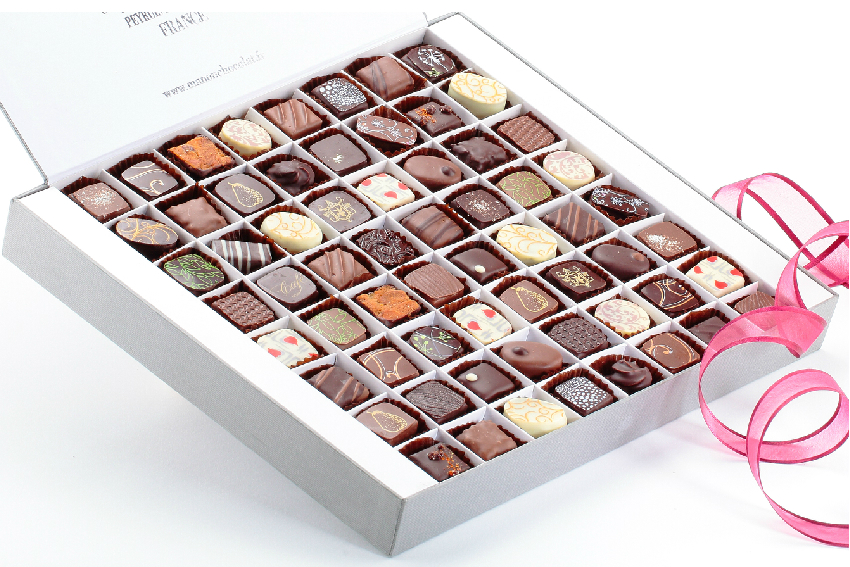 Coffret 64 chocolats assortis Manon