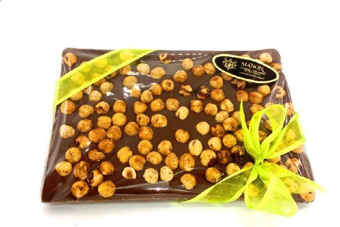 Plaque chocolat noisettes Manon