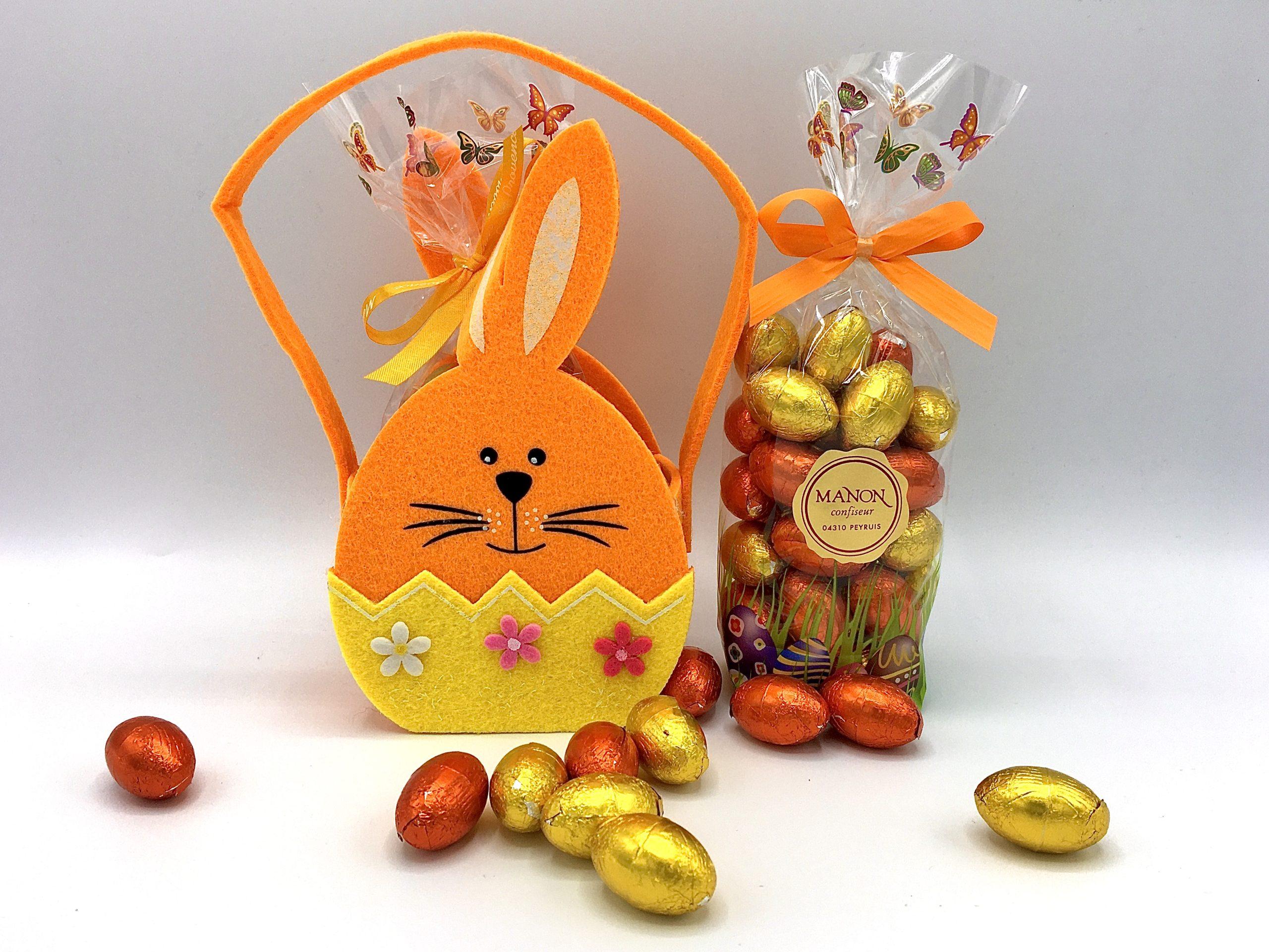 panier lapin chasse aux œufs de pâques