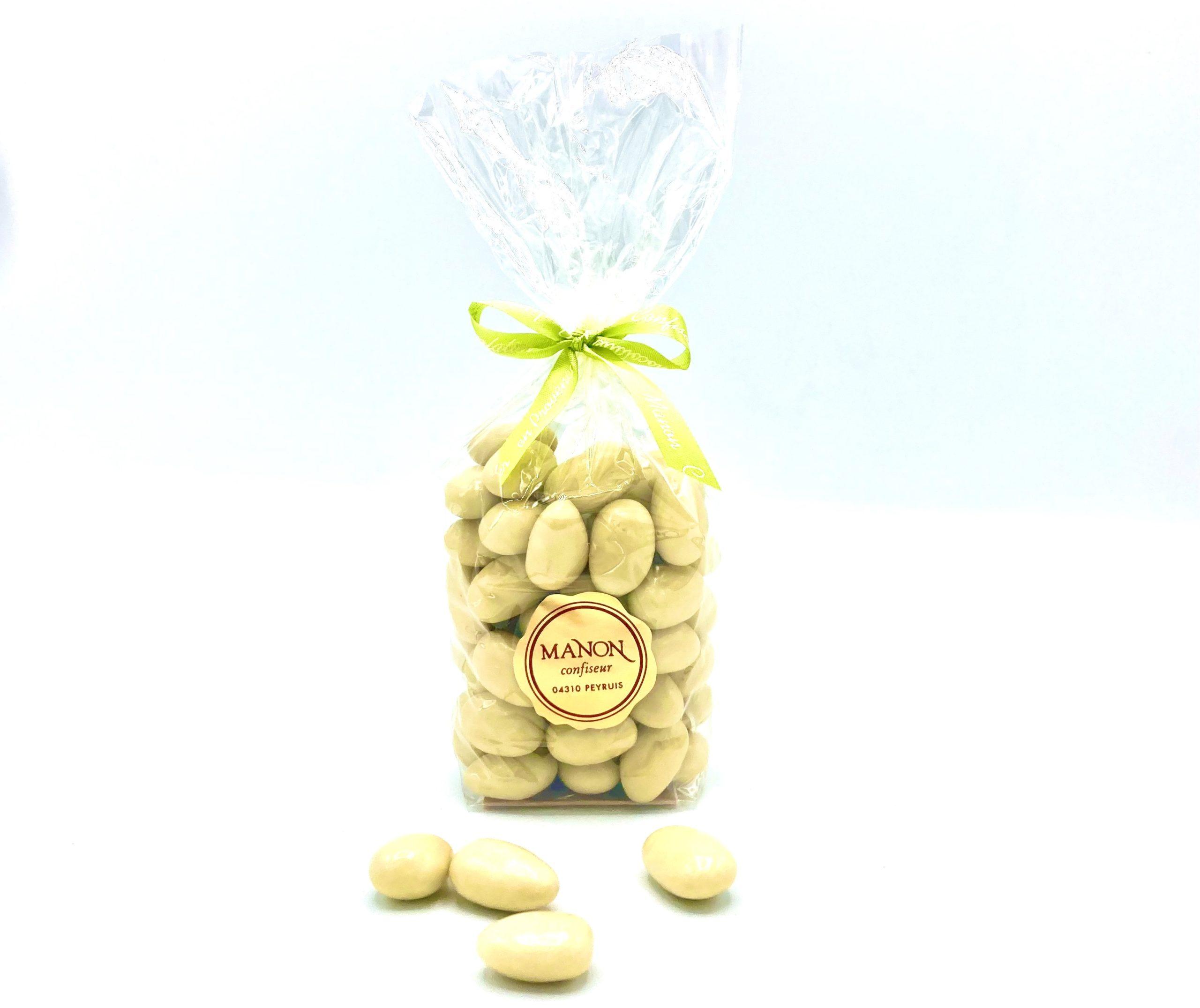 Sachet amandes chocolat blanc