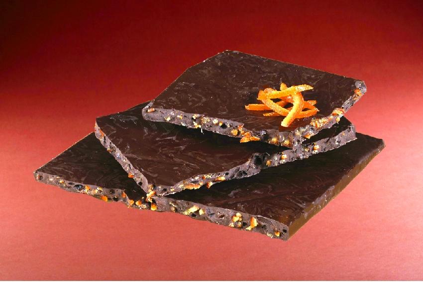 Plaque chocolat noir orange Manon