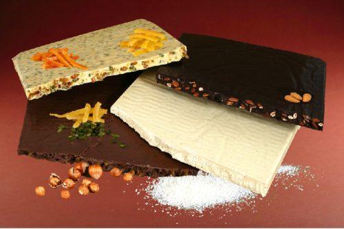 plaques de chocolats à casser assortis