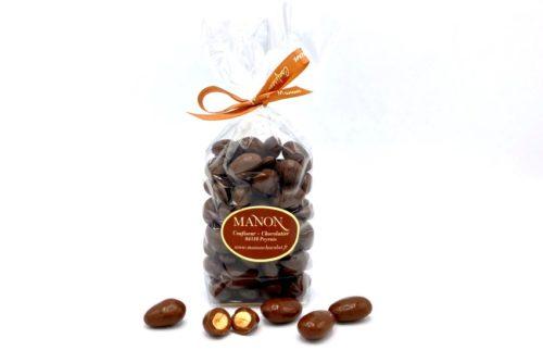 sachet amandes chocolat au lait Manon