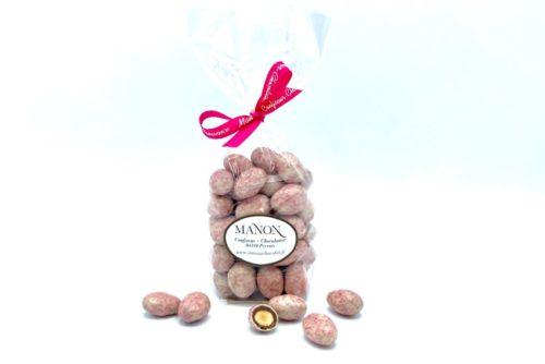 sachet amandes chocolat blanc et praliné Manon