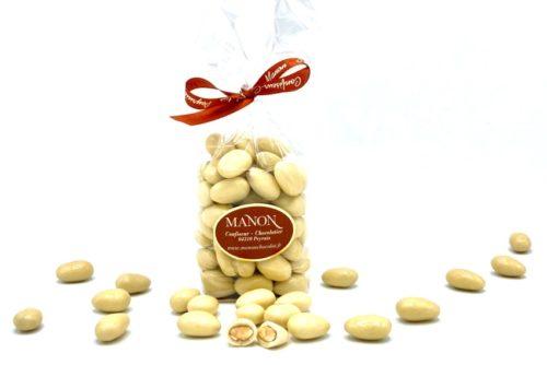 sachet d'amandes chocolat blanc Manon