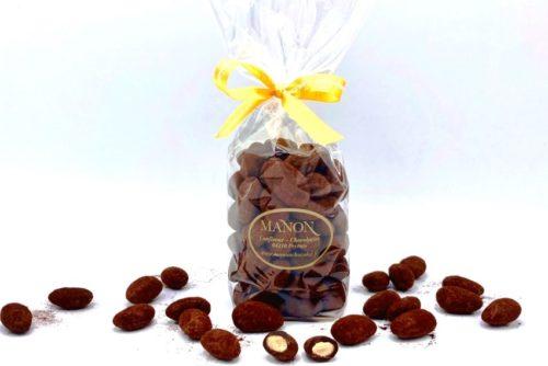 sachet d'amandes chocolat noir poudré cacao Manon