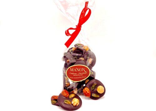 sachet mendiants chocolat noir