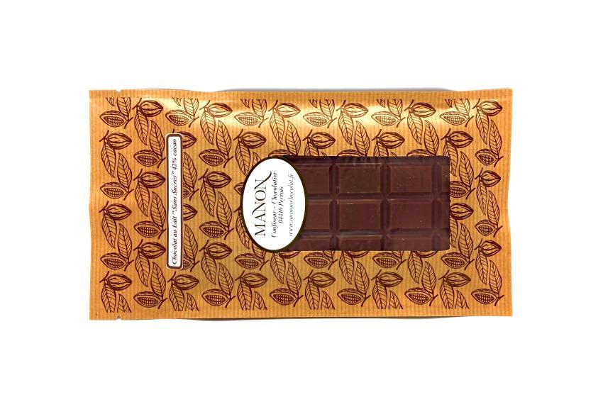 tablette de chocolat lait sans sucre Manon
