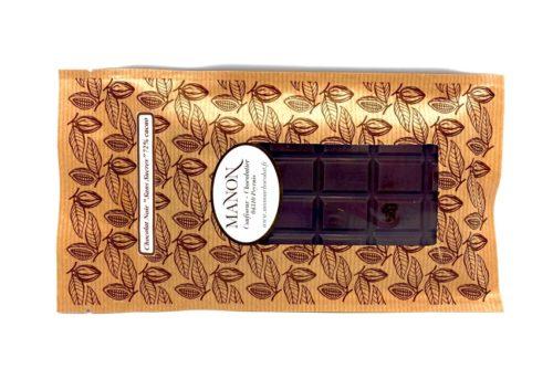 tablette de chocolat noir sans sucre Manon